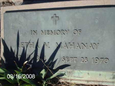 MAHANAY, LETHA - Gila County, Arizona | LETHA MAHANAY - Arizona Gravestone Photos