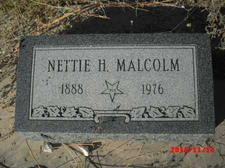 MALCOLM, NETTIE H. - Gila County, Arizona   NETTIE H. MALCOLM - Arizona Gravestone Photos