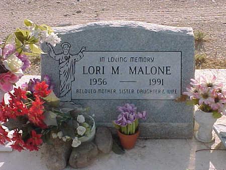 MALONE, LORI M. - Gila County, Arizona | LORI M. MALONE - Arizona Gravestone Photos