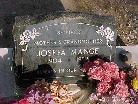 MANGE, JOSEFA - Gila County, Arizona | JOSEFA MANGE - Arizona Gravestone Photos