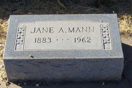 MANN, JANE A. - Gila County, Arizona | JANE A. MANN - Arizona Gravestone Photos
