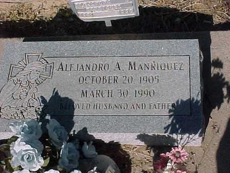 MANRIQUEZ, ALEJANDRO  A. - Gila County, Arizona | ALEJANDRO  A. MANRIQUEZ - Arizona Gravestone Photos