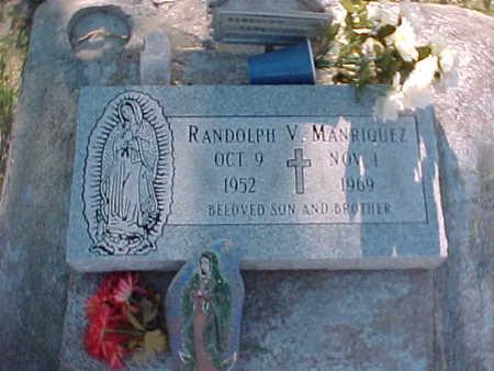 MANRIQUEZ, RANDOLPH  V. - Gila County, Arizona   RANDOLPH  V. MANRIQUEZ - Arizona Gravestone Photos