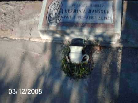 MANSOUR, HERMINIA - Gila County, Arizona   HERMINIA MANSOUR - Arizona Gravestone Photos