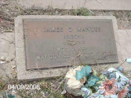 MANUES, JAMES - Gila County, Arizona | JAMES MANUES - Arizona Gravestone Photos