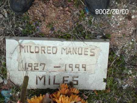 MANUES, MILDRED - Gila County, Arizona | MILDRED MANUES - Arizona Gravestone Photos