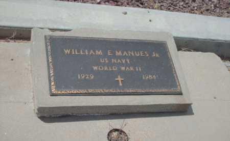 MANUES, WILLIAM E. - Gila County, Arizona   WILLIAM E. MANUES - Arizona Gravestone Photos