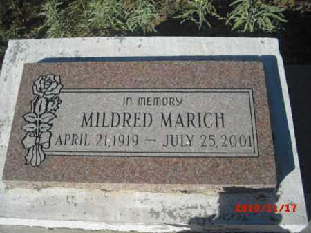 MARICH, MILDRED - Gila County, Arizona | MILDRED MARICH - Arizona Gravestone Photos