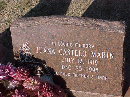 MARIN, JUANA CASTELO - Gila County, Arizona   JUANA CASTELO MARIN - Arizona Gravestone Photos