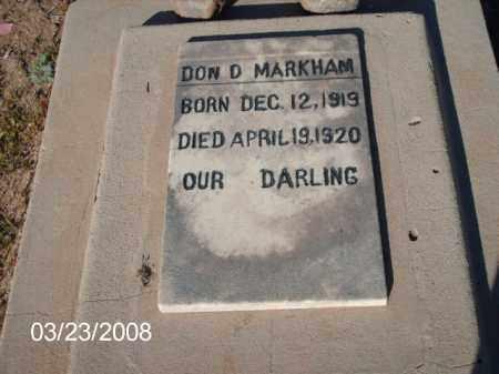 MARKHAM, DON D. - Gila County, Arizona   DON D. MARKHAM - Arizona Gravestone Photos