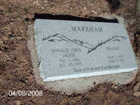 MARKHAM, DONALD LEROY - Gila County, Arizona | DONALD LEROY MARKHAM - Arizona Gravestone Photos