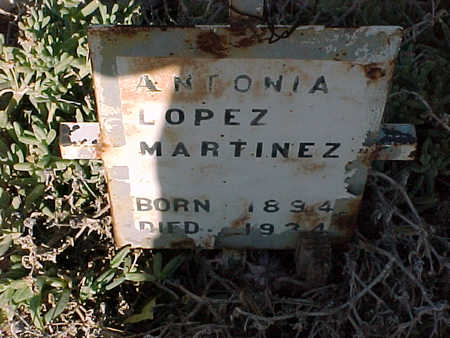 LOPEZ MARTINEZ, ANTONIA - Gila County, Arizona | ANTONIA LOPEZ MARTINEZ - Arizona Gravestone Photos