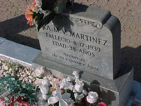 MARTINEZ, A.M.V. - Gila County, Arizona | A.M.V. MARTINEZ - Arizona Gravestone Photos