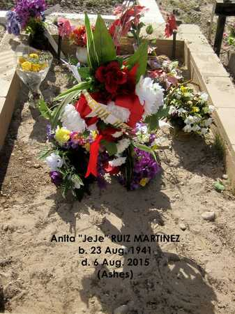 "RUIZ MARTINEZ, ANITA ""JEJE"" - Gila County, Arizona | ANITA ""JEJE"" RUIZ MARTINEZ - Arizona Gravestone Photos"