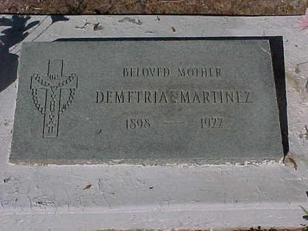 MARTINEZ, DEMETRIA - Gila County, Arizona | DEMETRIA MARTINEZ - Arizona Gravestone Photos