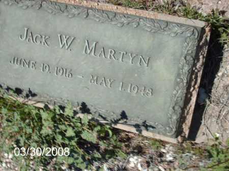 MARTYN, JACK W. - Gila County, Arizona   JACK W. MARTYN - Arizona Gravestone Photos