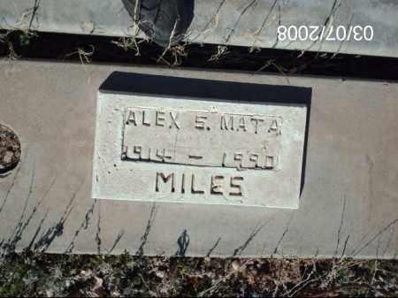 MATA, ALEX - Gila County, Arizona   ALEX MATA - Arizona Gravestone Photos