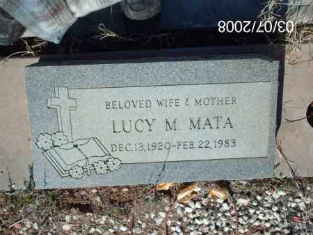 MATA, LUCY - Gila County, Arizona | LUCY MATA - Arizona Gravestone Photos
