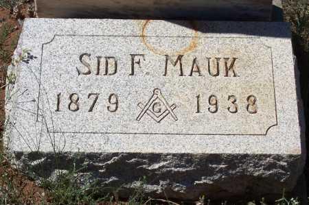 MAUK, SID F. - Gila County, Arizona | SID F. MAUK - Arizona Gravestone Photos