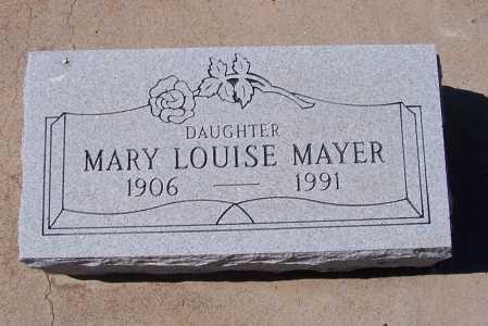 MAYER, MARY LOUISE - Gila County, Arizona | MARY LOUISE MAYER - Arizona Gravestone Photos