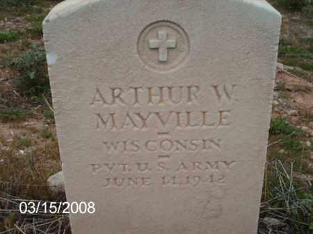 MAYVILLE, ARTHUR - Gila County, Arizona | ARTHUR MAYVILLE - Arizona Gravestone Photos