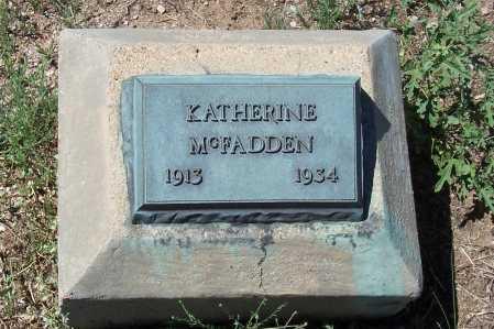 MC FADDEN, KATHERINE - Gila County, Arizona | KATHERINE MC FADDEN - Arizona Gravestone Photos