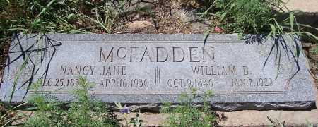 MC FADDEN, NANCY JANE - Gila County, Arizona | NANCY JANE MC FADDEN - Arizona Gravestone Photos