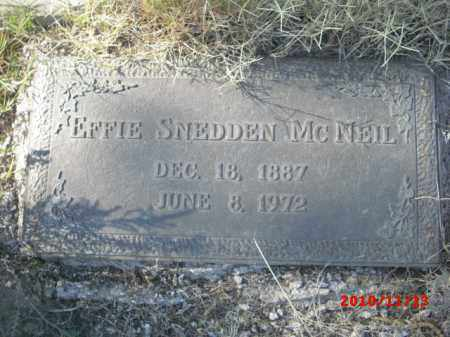 MC NEIL, EFFIE - Gila County, Arizona | EFFIE MC NEIL - Arizona Gravestone Photos