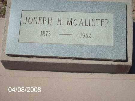 MCALISTER, JOSEPH H. - Gila County, Arizona | JOSEPH H. MCALISTER - Arizona Gravestone Photos