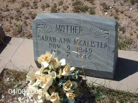 MCALISTER, SARAH ANN - Gila County, Arizona | SARAH ANN MCALISTER - Arizona Gravestone Photos