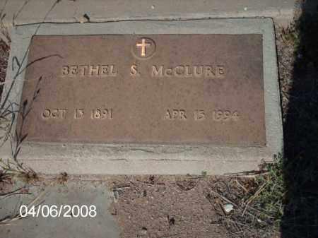 MCCLURE, BETHEL  S. - Gila County, Arizona | BETHEL  S. MCCLURE - Arizona Gravestone Photos
