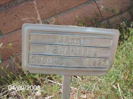 MCDANIELS, JESSE - Gila County, Arizona | JESSE MCDANIELS - Arizona Gravestone Photos