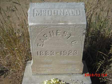 MCDONALD, EARNEST - Gila County, Arizona | EARNEST MCDONALD - Arizona Gravestone Photos