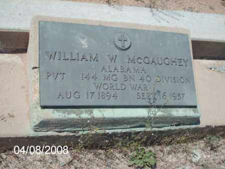 MCGAUGHEY, WILLIAM W. - Gila County, Arizona | WILLIAM W. MCGAUGHEY - Arizona Gravestone Photos