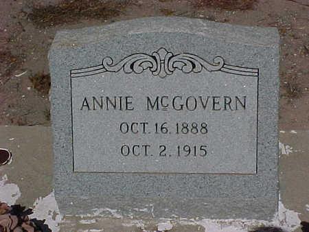MCGOVERN, ANNIE - Gila County, Arizona | ANNIE MCGOVERN - Arizona Gravestone Photos