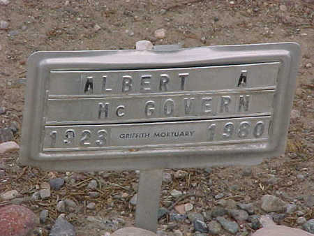 MCGOVERN, ALBERT A. - Gila County, Arizona | ALBERT A. MCGOVERN - Arizona Gravestone Photos