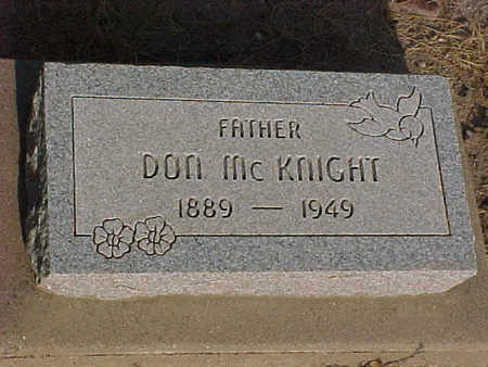 MCKNIGHT, DON - Gila County, Arizona | DON MCKNIGHT - Arizona Gravestone Photos