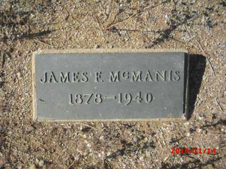 MCMANIS, JAMES F. - Gila County, Arizona | JAMES F. MCMANIS - Arizona Gravestone Photos