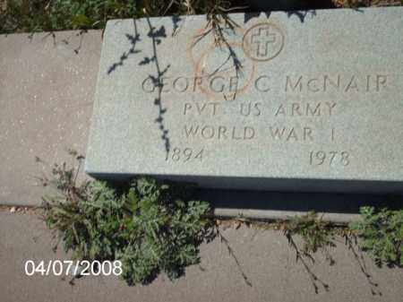 MCNAIR, GEORGE C. - Gila County, Arizona | GEORGE C. MCNAIR - Arizona Gravestone Photos