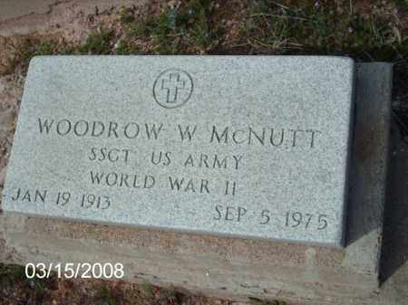 MCNUTT, WOODROW - Gila County, Arizona | WOODROW MCNUTT - Arizona Gravestone Photos