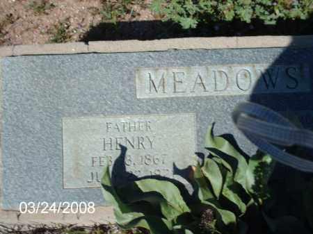 MEADOWS, HENRY - Gila County, Arizona | HENRY MEADOWS - Arizona Gravestone Photos