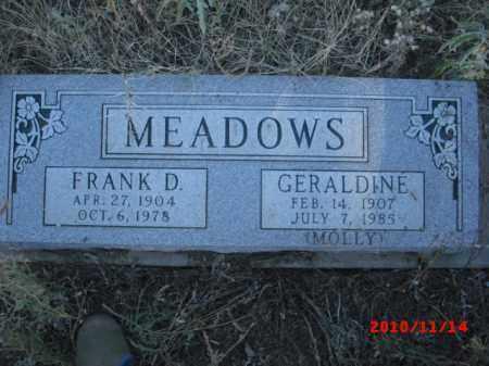 MEDOWS, FRANK D. - Gila County, Arizona | FRANK D. MEDOWS - Arizona Gravestone Photos