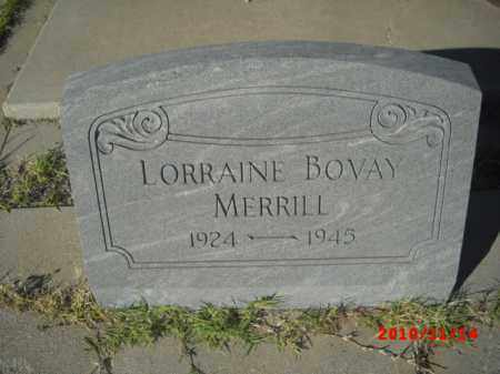 MERRILL, LORRAINE BOVAY - Gila County, Arizona | LORRAINE BOVAY MERRILL - Arizona Gravestone Photos