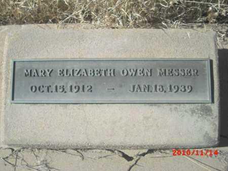 MESSER, MARY ELIZABETH OWEN - Gila County, Arizona | MARY ELIZABETH OWEN MESSER - Arizona Gravestone Photos