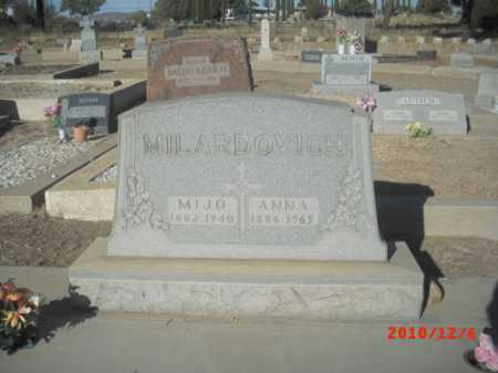 MILARDOVICH, MIJO - Gila County, Arizona | MIJO MILARDOVICH - Arizona Gravestone Photos