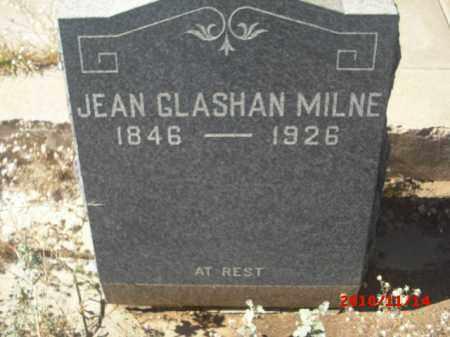 MILNE, JEAN GLASHAN - Gila County, Arizona | JEAN GLASHAN MILNE - Arizona Gravestone Photos