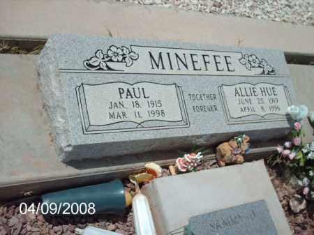 MINEFEE, PAUL - Gila County, Arizona | PAUL MINEFEE - Arizona Gravestone Photos