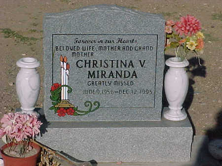 MIRANDA, CHRISTINA  V. - Gila County, Arizona | CHRISTINA  V. MIRANDA - Arizona Gravestone Photos