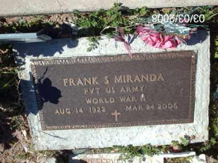 MIRANDA, FRANK - Gila County, Arizona | FRANK MIRANDA - Arizona Gravestone Photos
