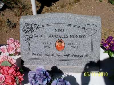 "GONZALES MONROY, CAROL  ""NINA"" - Gila County, Arizona   CAROL  ""NINA"" GONZALES MONROY - Arizona Gravestone Photos"
